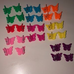 30 butterfly clips